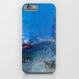 Classical Masterpiece 'Night Train' by Frederick Childe Hassam iPhone Case