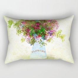 Bouquet of Spring Flowers Rectangular Pillow