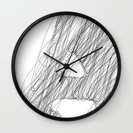 """"""" Cloud Collection """" - Minimal Letter A Print Wall Clock"""
