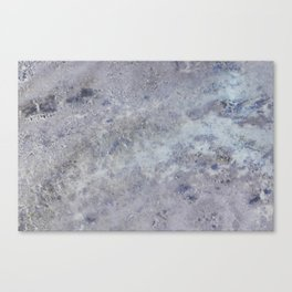 Speckled Blue and Gray Marble Canvas Print