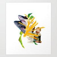 sharkbait Art Print