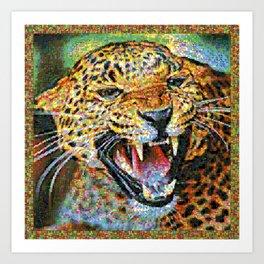 Colorful Jaguar Art Print
