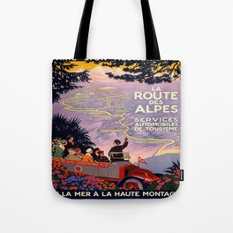Vintage poster - Route des Alpes, France Tote Bag