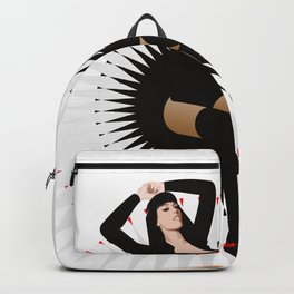 Black Girl on Abstract Background Backpack