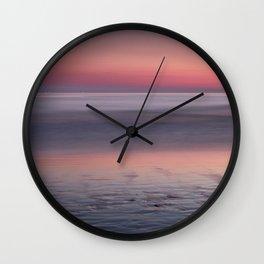 Barrosa beach at sunset. Sancti Petri Wall Clock