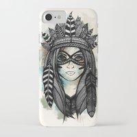 headdress iPhone & iPod Cases featuring Headdress by Caleb Swenson