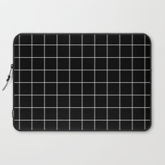 Black White Grid Laptop Sleeve