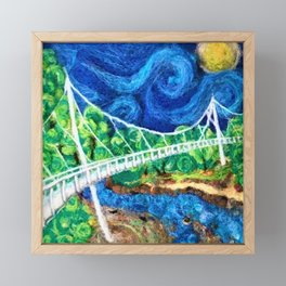 2016 Liberty Bridge Framed Mini Art Print