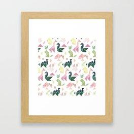 Pastel Tangrams Pattern Framed Art Print
