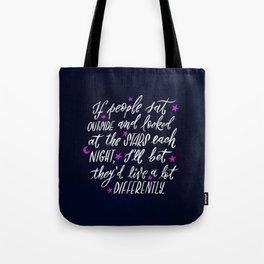 Look at the Stars - Deep Blue Tote Bag