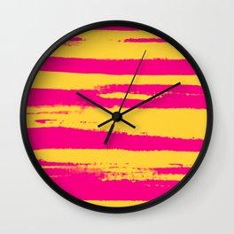 Go Wild: Magestic Magenta Zebra Wall Clock