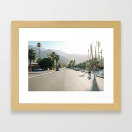 Palm Springs Road Framed Art Print