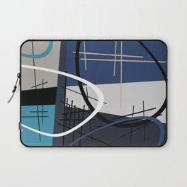 Blue Mid Century Laptop Sleeve