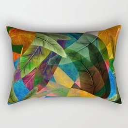 """Retro Tropical Tiki Fantasy"" Rectangular Pillow"