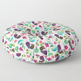 Stylized Trees Floor Pillow