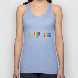 I heart Equality Unisex Tank Top