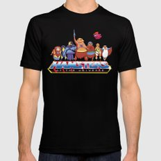 Hamsters Of The Universe Mens Fitted Tee Black SMALL