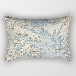 Vintage Map of the Chesapeake Bay (1901) Rectangular Pillow