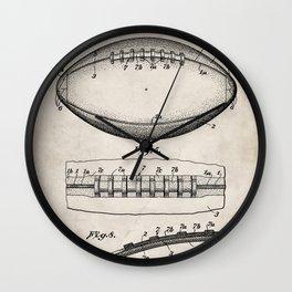 Football Patent - American Football Art - Antique Wall Clock