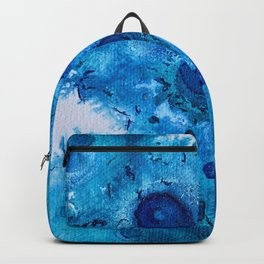 Blue Dot Abstract Backpack