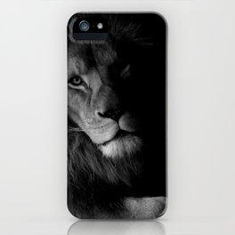 Black & White Lion iPhone Case