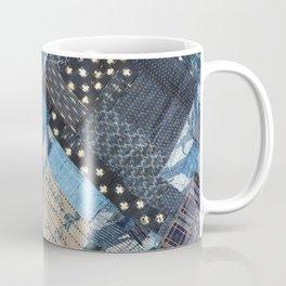 Antique Japanese boro jeans patchwork Coffee Mug