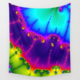 Abstract art violet sky blue psychedelic printable poster Wall Tapestry