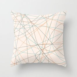 Colored Line Chaos #21 Throw Pillow