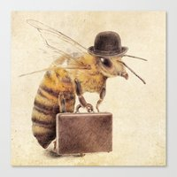 bee Canvas Prints featuring Worker Bee by Eric Fan