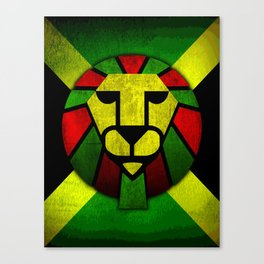 Rasta Lion. Canvas Print
