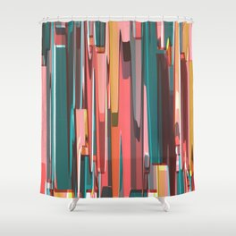 Abstract Composition 702 Shower Curtain
