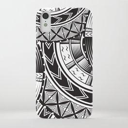 UrbanNesian Black and White Tatau iPhone Case