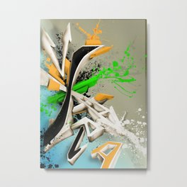 Extra grafitti 3d abstract design Metal Print