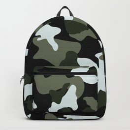 Green White camo camouflage army pattern Backpack