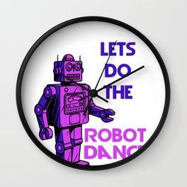 Robot Dance Technology Entertainment Virtual Gift Wall Clock