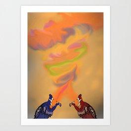 Ran and Shaw Art Print
