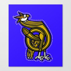 Medieval Owl Letter D 2017 Canvas Print