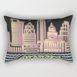 Austin City Neon Rectangular Pillow