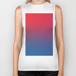 DOUBLE VISION - Minimal Plain Soft Mood Color Blend Prints Biker Tank