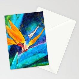 Bird Of Paradise Plant art Stationery Cards