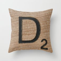 Tile D Throw Pillow