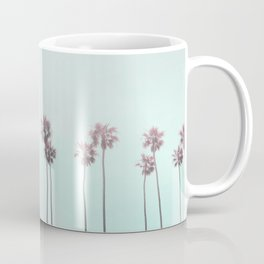 Pink Light Paradiese Beach Palm Trees Coffee Mug