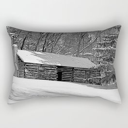 Cabin in the Snow Rectangular Pillow