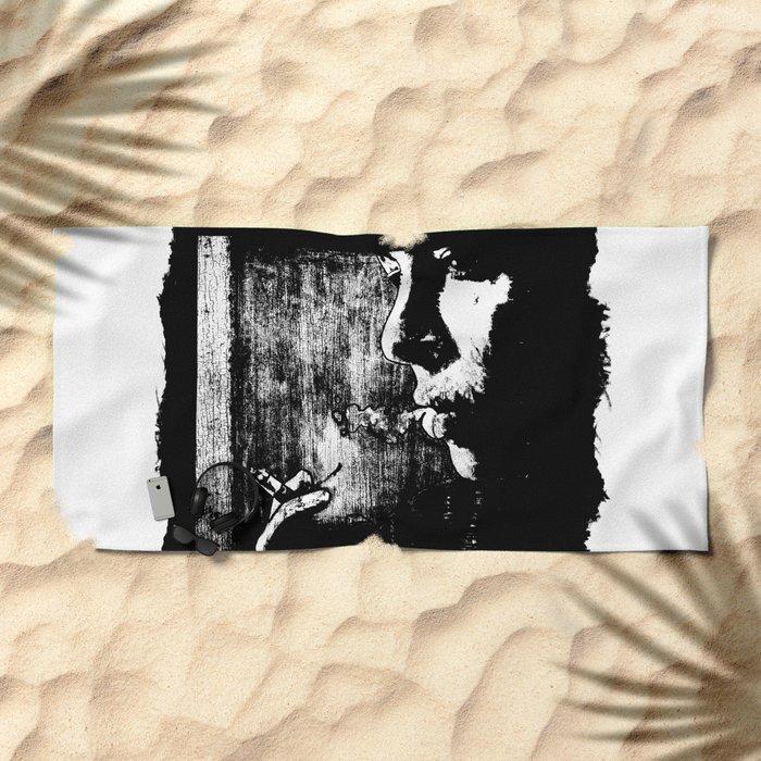 SMOKE - black version Beach Towel