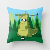 golf Throw Pillows featuring Golf  by Tony Vazquez