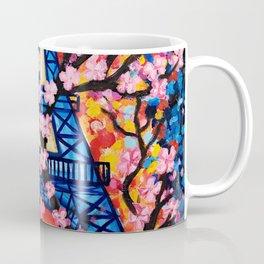 Paris Cherry Blossoms Coffee Mug