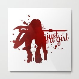Just A Girl Metal Print