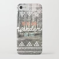not all who wander are lost iPhone & iPod Cases featuring Wander by Wesley Bird