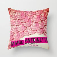 marie antoinette Throw Pillows featuring Marie Antoinette by Linda Hordijk