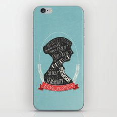 Jane Austen Silhouette Portrait iPhone Skin